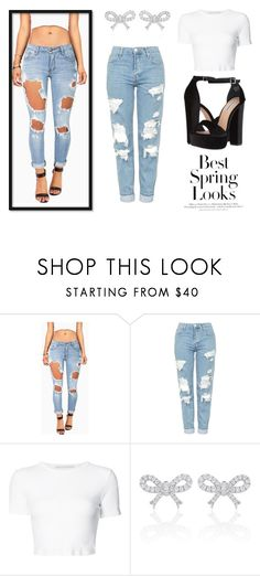 """""""Spring Looks"""" by lilyismyname-13 ❤ liked on Polyvore featuring Machine, Topshop, Rosetta Getty, H&M and Steve Madden"""