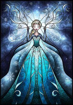 The Snow Queen by mandiemanzano.deviantart.com on @deviantART