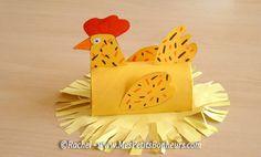 bricolage poule de paques papier