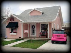 The Pink House AND pink car