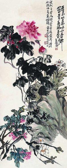 清-吴昌硕-花卉 by China Online Museum - Chinese Art Galleries, via Flickr