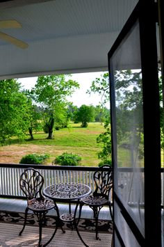 Porch off the Ms. Ruby's Room at the Texas Forest Country Retreat B & B.