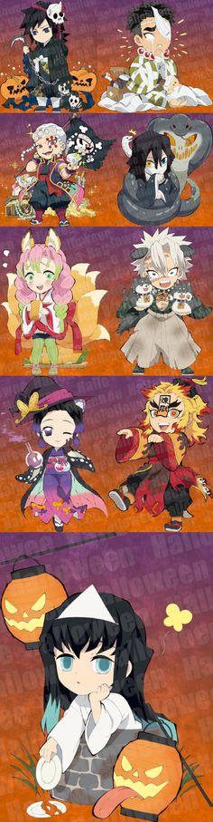 New Halloween illustrations feat. the Hashiras