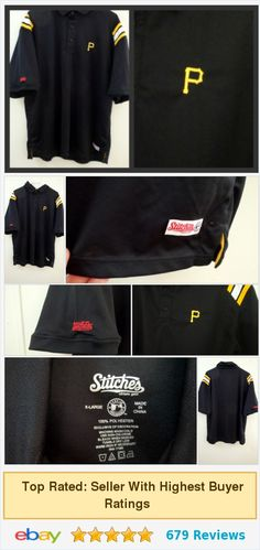 3a0c80bc6e4a Men s Stitches Dry Fit Pittsburgh Pirates SS Polo Jersey Sz XL Athletic  Gear EUC http