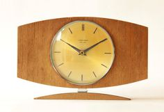 Gorgeous Mid Century JUNGHANS Desk CLOCK - 60s Nelson Eames Modernist Danish - Tischuhr