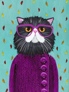 Awesome Etsy listing at https://www.etsy.com/pt/listing/240226805/new-autumn-coat-original-cat-folk-art