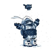 Another little Overwatch doodle. Gotta love the a-Mei-zing yeti hunter skin!