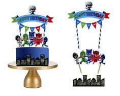 This item is unavailable Pj Masks Cake Topper, Cake Toppers, Fourth Birthday, 3rd Birthday Parties, Decoracion Pj Mask, Torta Pj Mask, Pj Mask Decorations, Pjmask Party, Pj Masks Birthday Cake