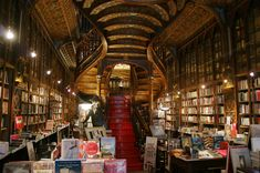 """Livraria Lello - Porto Portugal - the cool """"360 View"""" on their website makes you want to go there now!!"""