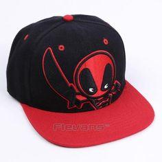 a47d998022a Deadpool Symbol Black Red Awesome Snapback Baseball Hat Cap