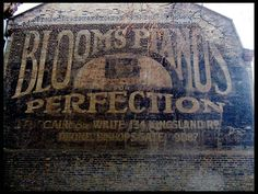 Blooms Pianos Ghost Sign | Danthonia Designs Blog