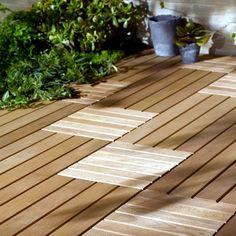 Wood tiles balcony - why wood flooring is bang on trend Balcony Tiles, Indoor Balcony, Balcony Flooring, Patio Tiles, Outdoor Wood Tiles, Wooden Floor Tiles, Outdoor Flooring, Flooring Ideas, Wood Flooring