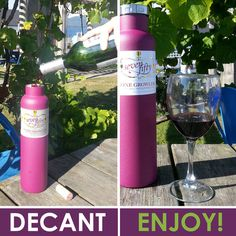 DECANT & ENJOY : Wine growlers also double as a decanter to aerate young or inexpensive red wines which can be tight or closed on the palate. #winegrowler #fiftyfiftybottles