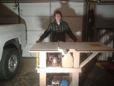 Homemade Tablesaw Workstation