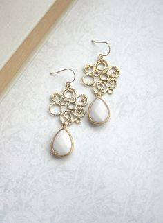 Gold+Filigree+Chandelier+with+White+Pear+Jade+Dangle+by+Marolsha,+$29.50