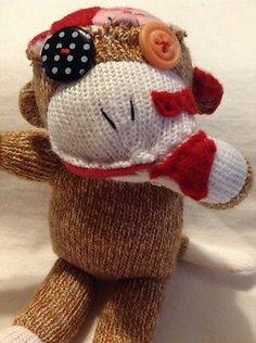Morbid Monkey OOAK Zombie Sock Monkey