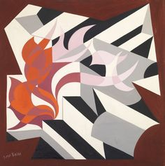 "Giacomo Balla (1871, Turin – 1958, Rome), ""Idealfiamma"", 1929, oil on canvas, cm 77x77 - Courtesy Tornabuoni Art.     #GiacomoBalla #ItalianArt #ItalianMasters #TornabuoniArt #Art"