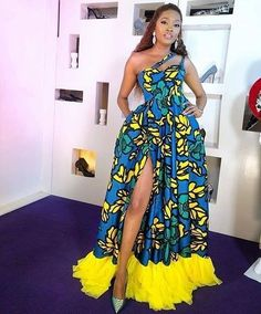 Ankara gowns are beautiful and we've got more than enough ankara long gown styles you'll love in this post. African Fashion Ankara, Latest African Fashion Dresses, African Inspired Fashion, African Print Fashion, Africa Fashion, Latest Outfits, Nigerian Fashion, Stylish Outfits, African Party Dresses