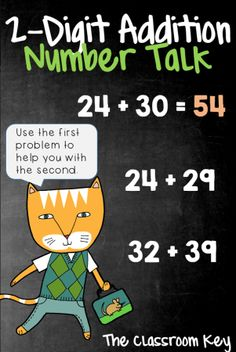 Addition Number Talk, a strategy for building number sense in just 10 minutes a day Maths 3e, Primary Maths, Secondary Math, Second Grade Math, Grade 2, Math Talk, Math Groups, Math Intervention, Math Strategies