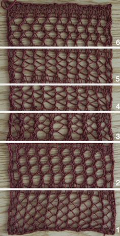 Faggot stitch pattern, in the pic she used different gauges.