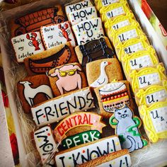 """""""Friends"""" movie cookies for wedding party"""