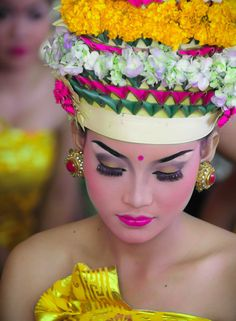 Balinese dancer at ceremony T Shirt Painting, Paradise Island, Balinese, Asian Beauty, Captain Hat, Dancer, Culture, Hats, Inspiration