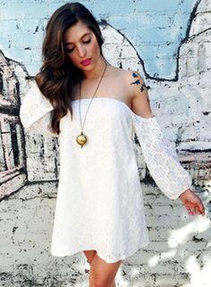 Off the Shoulder Daisy Dress $48.50 @Prim Boutique