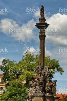 Plague column in Prague royalty-free stock photo