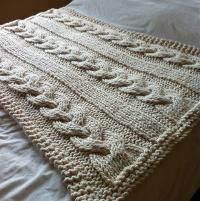 Cable Knit Blanket - Extreme Knitting - via @Craftsy
