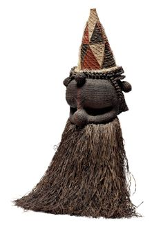 Salampasu mask from DR Congo African Masks, African Art, Costume Quest, African Sculptures, Plant Fibres, Out Of Africa, Majestic Animals, Gourd Art, Male Figure