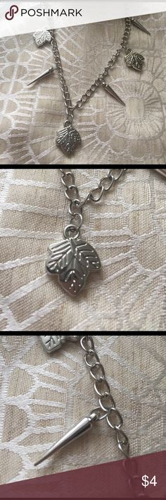 """Necklace with charms I've had this in my jewelry box for a while , maybe worn once , not my style but still pretty - total length of chain end to end is 20 """" - Costume jewelry , light,  charms I believe are bead charms, not metal , used condition. Ultrasonically cleaned before listing. Jewelry Necklaces"""