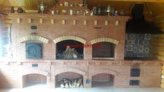 Проект барбекю с мангалом, плитой под казан и мойкой Brick Grill, Man Cave, Own Home, Mansions, House Styles, Kitchen, Cool Stuff, Outdoor, Home Decor