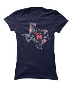 Houston Cougars - Paisley State Outline