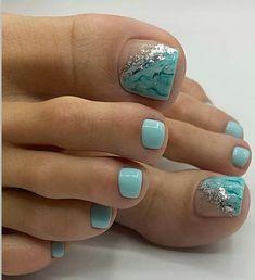 Feet Nail Design, Valentine's Day Nail Designs, Pedicure Designs, Pedicure Nail Art, Gel Toe Nails, Feet Nails, Toe Nail Art, Pretty Toe Nails, Cute Toe Nails