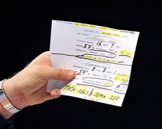 This Is What UFC Announcer Bruce Buffer's Notes Look Like.