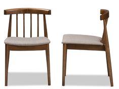 Alice Dining Chair, Walnut (Set of 2)