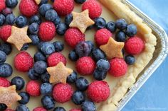 When it comes to 4th of July desserts, this is the show stopper! Impress the guests at your holiday party with this 4th of July Slab Pie!