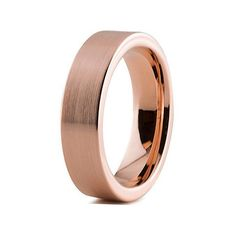 This classic Rose Gold Ring is made with genuine Tungsten Carbide, a material prized for its strength and durability. Plated with 18kt Rose Gold, this band features a brushed surface creating a matte