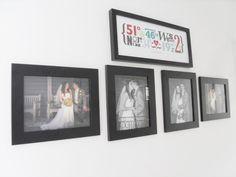 Wedding wall:: Hanging the wedding photos