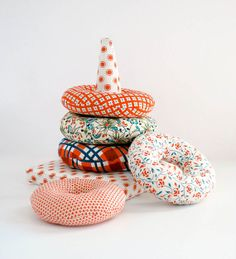 This is so cute! Love the color combination   Stacking Rings Toy Stuffed Rings Stacking Toy by GracieandSam, $40.00