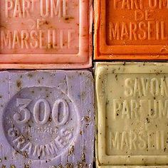 Savon de Marseille with crushed local flowers from the South of France.