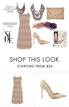 """""""nude spring"""" by mimmiandkinkistatementjewelry ❤ liked on Polyvore featuring Industrie, Christian Louboutin, Gianvito Rossi and Vivienne Westwood"""