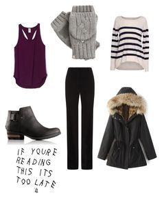Senator's murder in the coffeeshop by ramadiii on Polyvore featuring polyvore fashion style Velvet by Graham & Spencer BOSS Hugo Boss SOREL Isotoner clothing