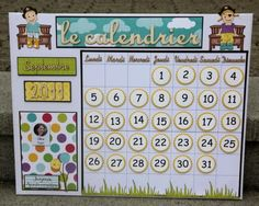 Le calendrier perpétuel pour ma classe Classroom Organisation, Classroom Displays, Classroom Decor, Homemade Calendar, Starting School, French Classroom, Daycare Crafts, Kids Calendar, Classroom Setting
