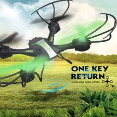 JJRC H33 RC Drone RC Quadcopter 6 axis RC Helicopter Quadrocopter Mini Drone One Key Return. Click visit to buy #RemoteControl #Helicopter