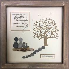 Parent Gift Family Tree Pebble art family gift Family Tree