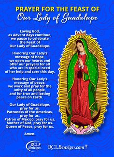Our Lady Of Guadalupe Prayer | ... to download and print a Feast of Our Lady of Guadalupe Prayer Card