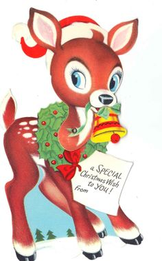 Vintage Articulated Rudolph Christmas Card by independencevintage, $3.00