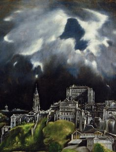 El Greco, View of Toledo, 1596-1600 (detail). Spain's brand of Catholicism, compared to Italy's, was mystical and based on personal experience. This mysticism is reflected in El Greco's View of Toledo. Almost entirely absorbed by the landscape, the city seems to be at the direct mercy of God. This is not a forgiving God, but rather a wrathful one, as in the Old Testament