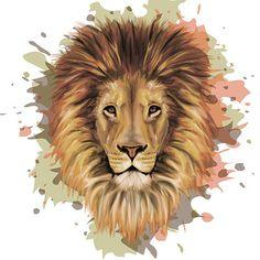 King Lion - Stylized Vector Portrait by on DeviantArt Lion King Art, Lion Art, Lion Vector, Vector Art, Lion Illustration, Lion Drawing, Lion Wallpaper, Vector Portrait, Watercolor Animals